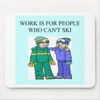 skiing lovers mouse pad