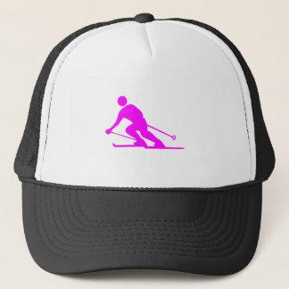 Skiing - Magenta Trucker Hat
