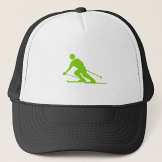 Skiing - Martian Green Trucker Hat