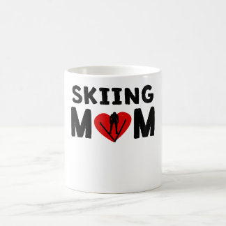 Skiing Mom 11 Oz Magic Heat Color-Changing Coffee Mug