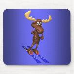 Skiing Moosepad Mouse Mat