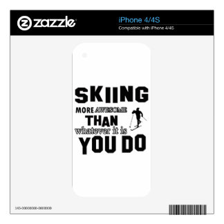 skiing more awesome iPhone 4S decals