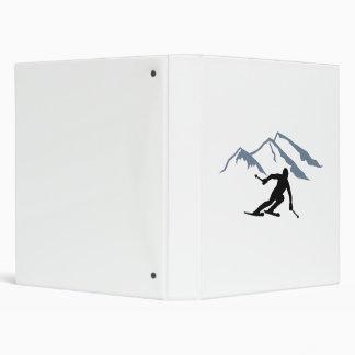 Skiing mountains binder