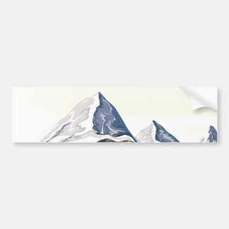 Skiing Mountains Bumper Sticker