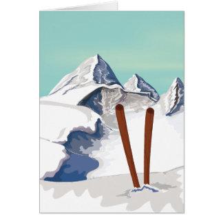 Skiing Mountains Card