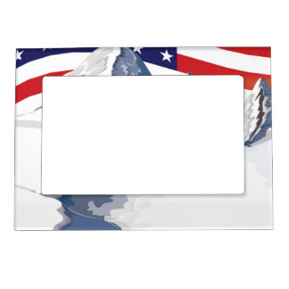 Skiing Mountains Magnetic Picture Frame