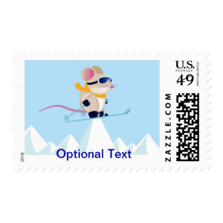 Skiing Mouse Patrol - Customize Stamp