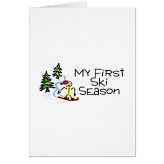 Skiing My First Ski Season Greeting Card