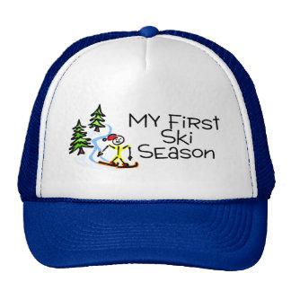 Skiing My First Ski Season Trucker Hat