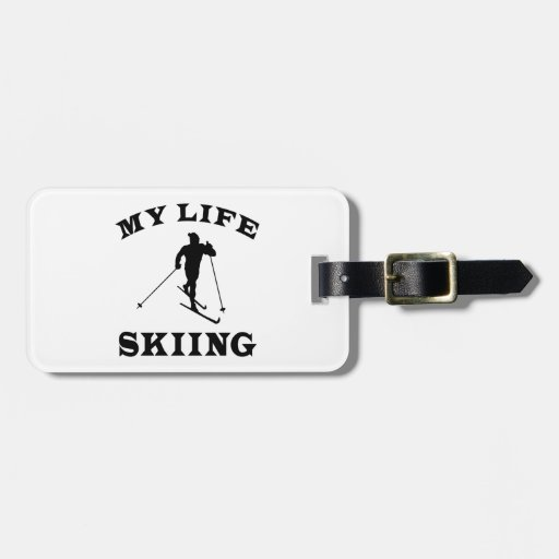 Skiing My Life Tags For Luggage
