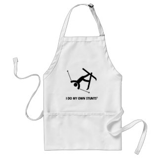 Skiing My Own Stunts Adult Apron