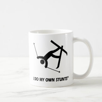 Skiing My Own Stunts Coffee Mug
