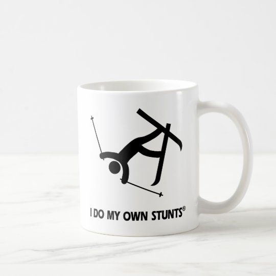 Skiing My Own Stunts Coffee Mug