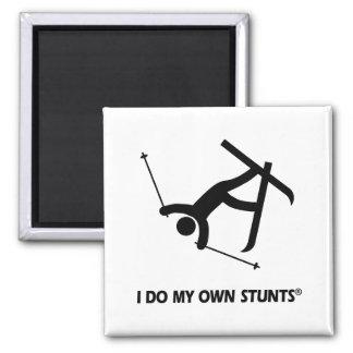 Skiing My Own Stunts Magnet
