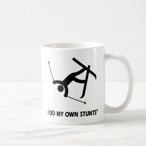 Skiing My Own Stunts Mugs