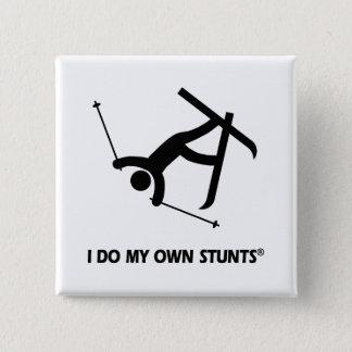 Skiing My Own Stunts Pinback Button