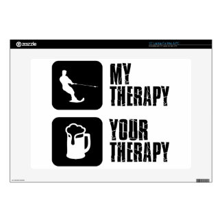 skiing my therapy designs laptop skin