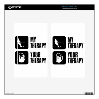 skiing my therapy designs kindle fire skins