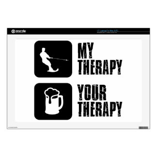 skiing my therapy designs laptop skins