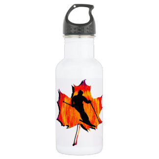 SKIING OH YES STAINLESS STEEL WATER BOTTLE