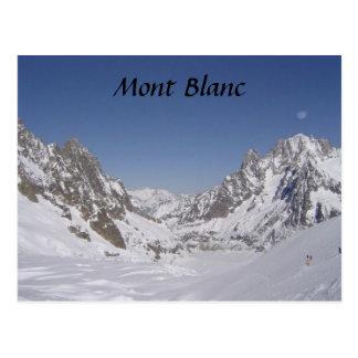 Skiing on a Glacier Postcard