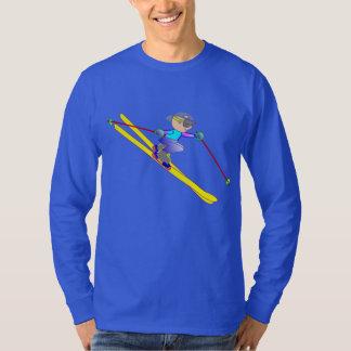 Skiing on Men's Basic Long Sleeve T-Shirt