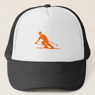 Skiing - Orange Trucker Hat