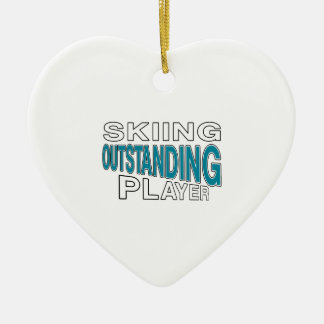 SKIING OUTSTANDING PLAYER CERAMIC ORNAMENT