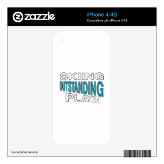 SKIING OUTSTANDING PLAYER DECALS FOR iPhone 4S