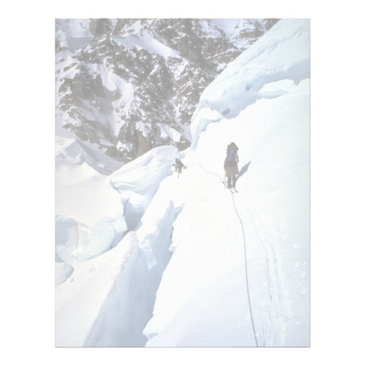 Skiing over Kahiltna Pass Winter Letterhead