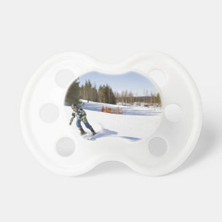 skiing baby pacifier
