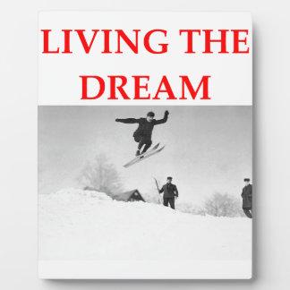 skiing photo plaque