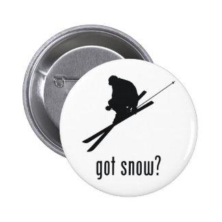 Skiing Pinback Button
