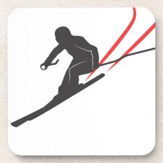 skiing posavasos de bebidas