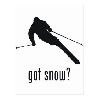 Skiing Postcard