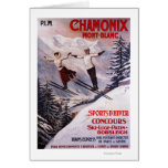 Skiing Promotional Poster Card