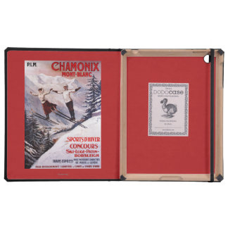 Skiing Promotional Poster Case For iPad