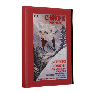 Skiing Promotional Poster iPad Folio Cover