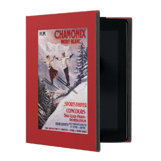 Skiing Promotional Poster iPad Cover