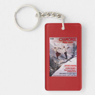Skiing Promotional Poster Keychain