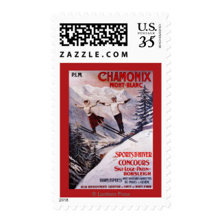 Skiing Promotional Poster Postage