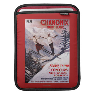 Skiing Promotional Poster Sleeve For iPads