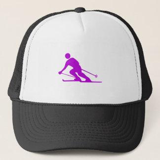 Skiing - Purple Trucker Hat