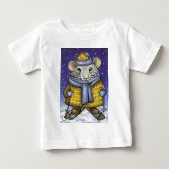 Skiing Rat Baby T-Shirt