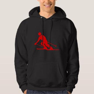 Skiing - Red Hoodie