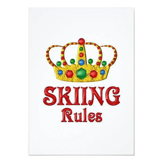 SKIING RULES CARD