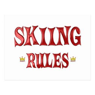Skiing Rules Postcard