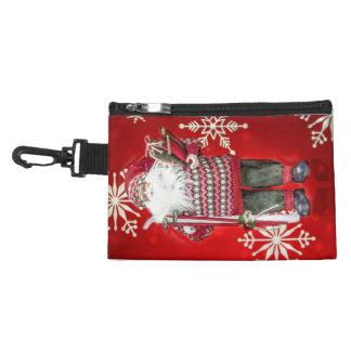 Skiing Santa Accessories Bag