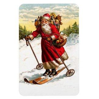 Skiing Santa Claus