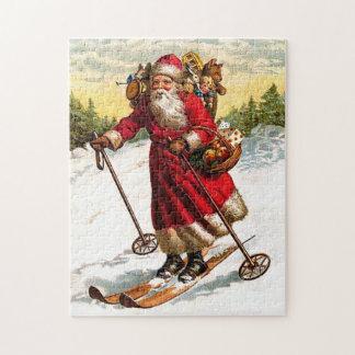 Skiing Santa Claus Puzzle